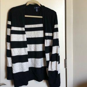 GAP Button up Stripe Sweater